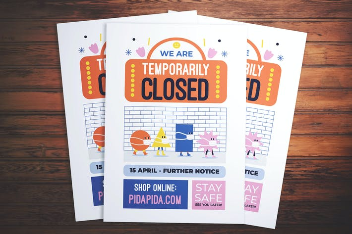 Temporarily Closed Info Flyer