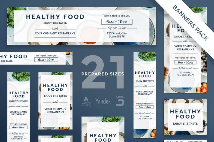 Healthy Food Banner Pack Template