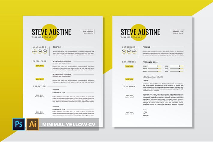 Thumbnail for Minimal Yellow | CV & Resume