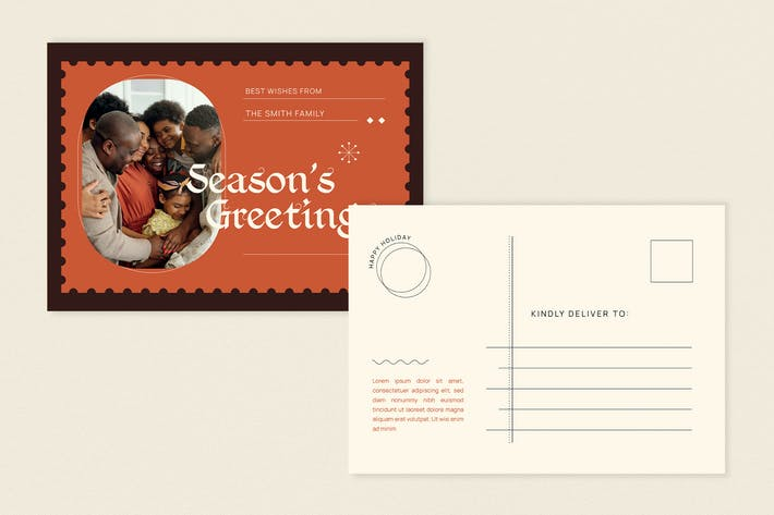 Postcard Season's Greeting Card