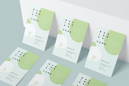 EU Vertical Business Card Mockups