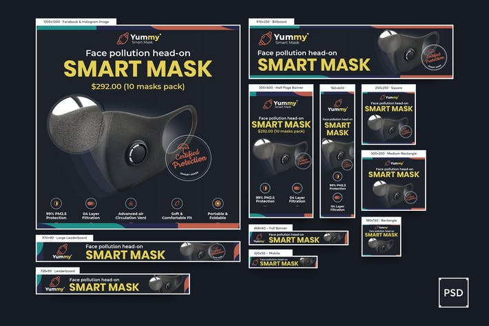 Thumbnail for Anti-Pollution Mask Banners Ad