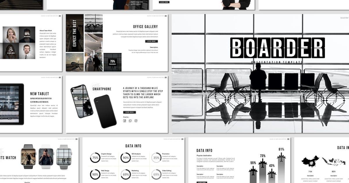 Download Boarder - Travel Keynote Template by invisualstudio