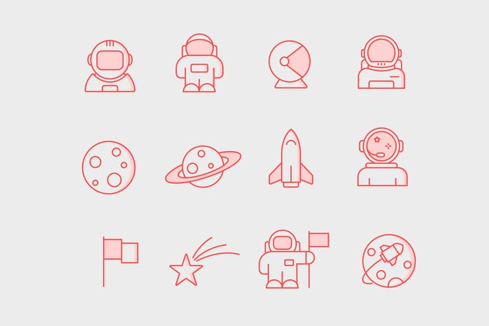 Thumbnail for 12 Astronaut Icons