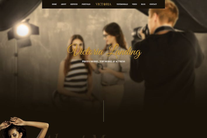 Cover Image For Victoria - Creative Landing Page PSD Template