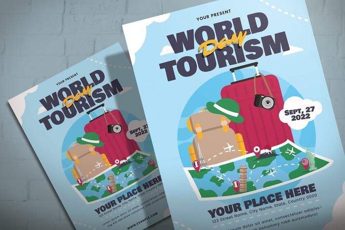Thumbnail for World Tourism Day - Flyer Template