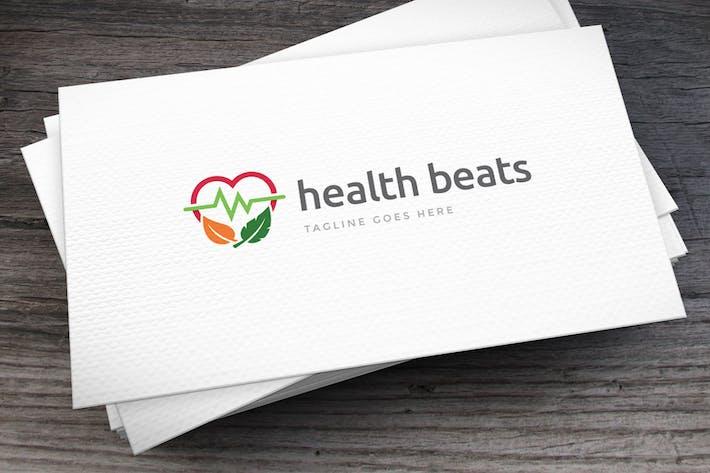 Thumbnail for Health Beats Logo Template