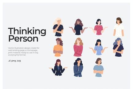 Thinking Person - Illustration