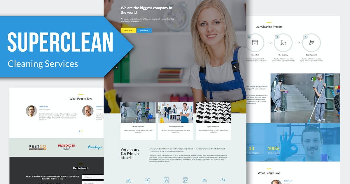 Download Super Clean - Cleaning Services Muse Templates RS by Rometheme