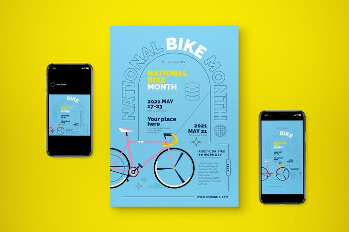 May Is Bike Flyer Set
