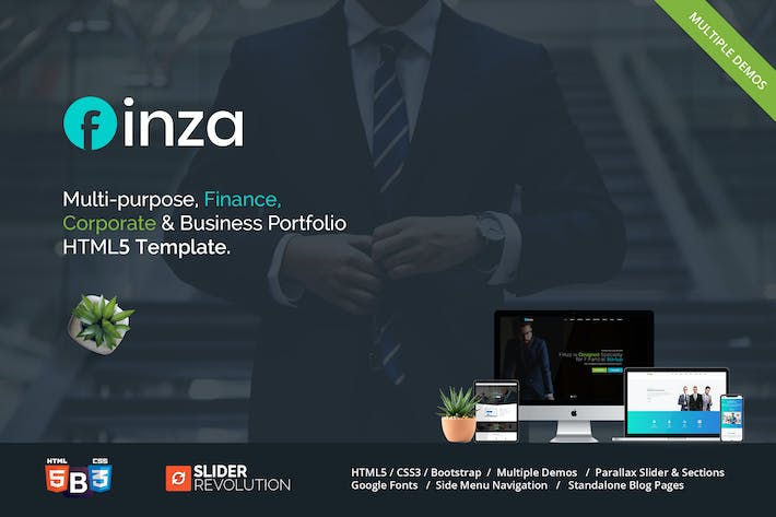 Thumbnail for Finza - Corporate Business HTML5