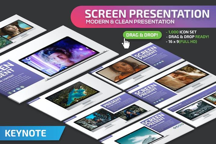 Шаблон презентации Keynote экрана