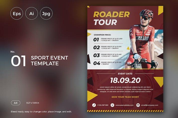 Thumbnail for Sport Event Flyer Template 01 - Slidewerk