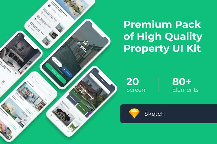 Thumbnail for Property Mobile UI KIT for Sketch
