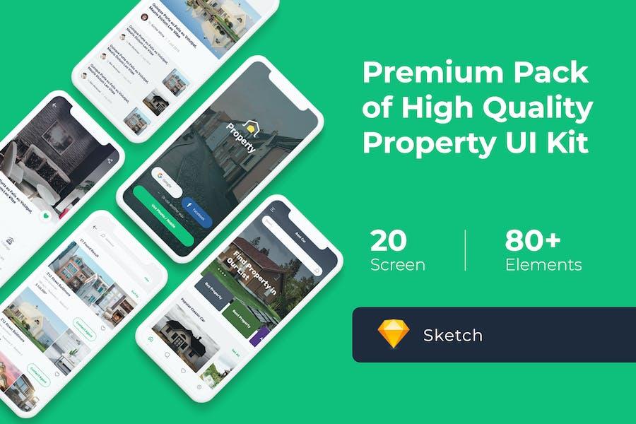 Property Mobile UI KIT for Sketch