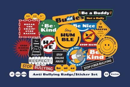 Anti Bullying Badge Sticker