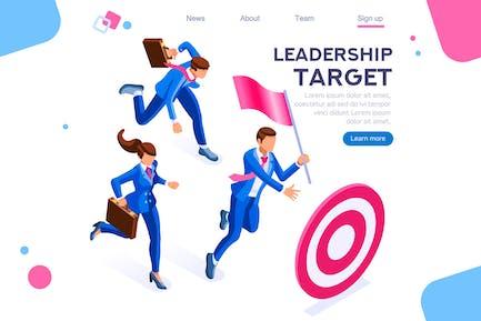 Leadership Target Workgroup Teamwork Concept