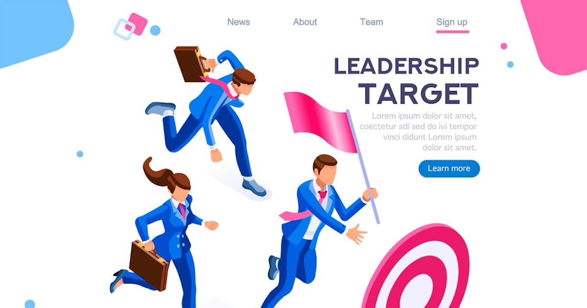 Download Leadership Target Workgroup Teamwork Concept by aurielaki