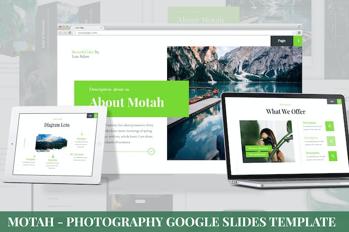 Cover Image For Motah - Photography Google Slides Template