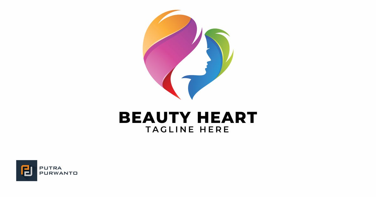 Download Beauty Heart - Logo Template by putra_purwanto