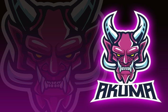 Thumbnail for Akuma Demon Mask Esport Logo
