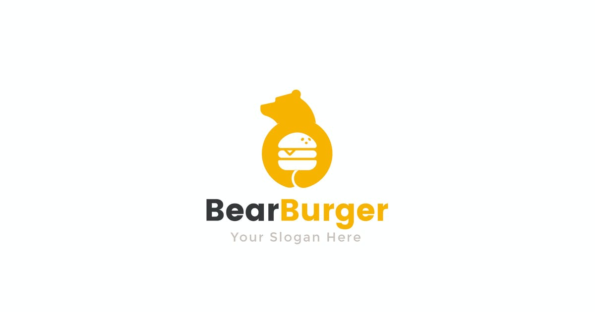 Download Bear Burger Food Logo Template by NEWFLIX