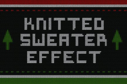 Christmas Knitted Sweater Effect