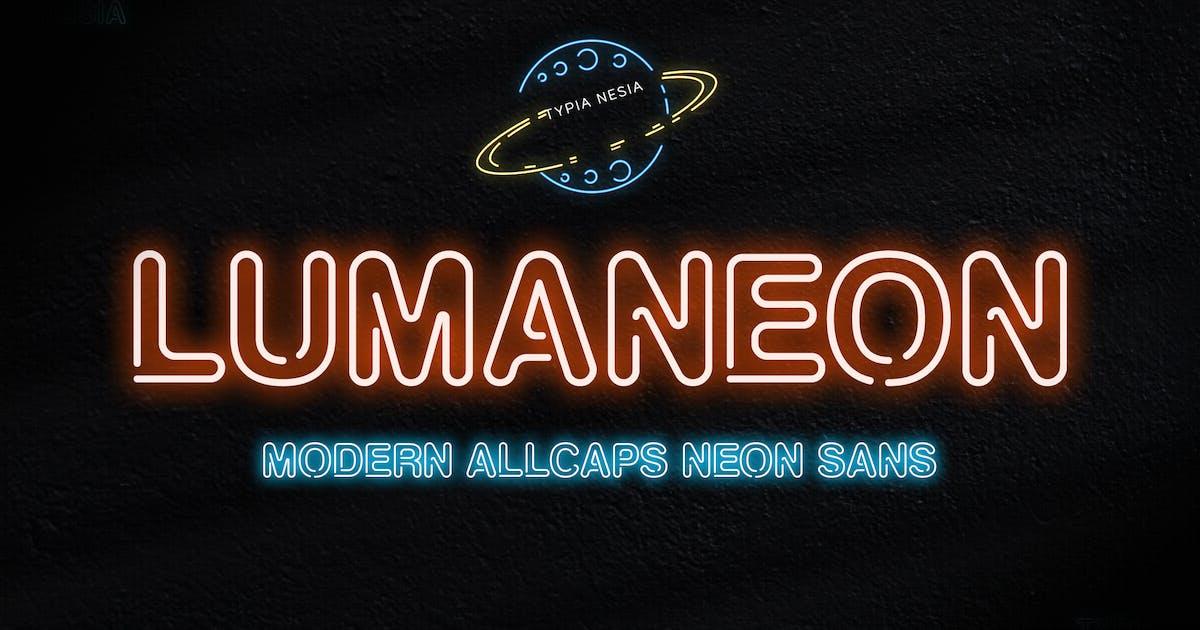 Download Lumaneon - Retro Neon Sign Sans Serif Font by yipianesia