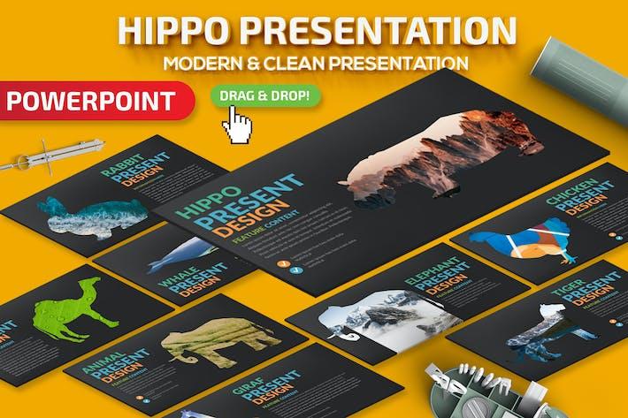 Шаблон презентации Hippo Powerpoint