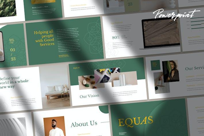 Equas - Элегантный Шаблон Powerpoint