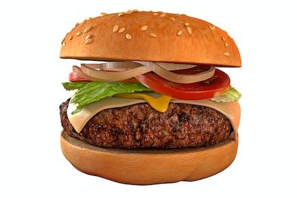 Hamburguesa aislada - Hamburger 3D
