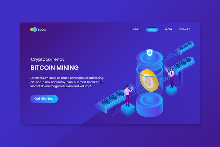 Thumbnail for Isometric Bitcoin Cloud Mining Concept