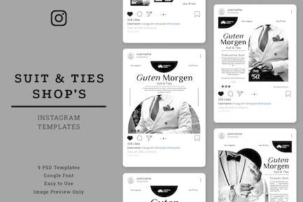 Suit & Ties Shop Instagram Post Template