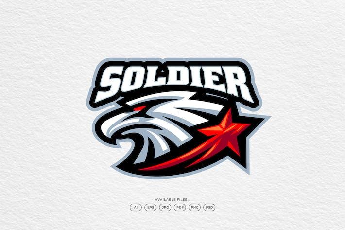 Military Patch Emblem Army Eagle Mascot Logo