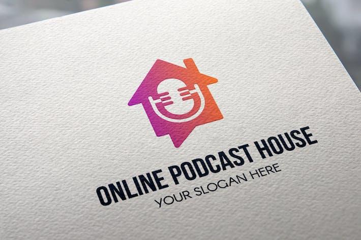 Thumbnail for Online Podcast House Logo