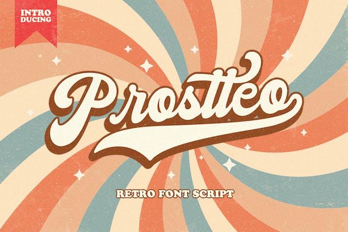 Thumbnail for Prostteo  Bold Sript Font