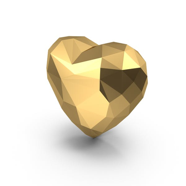 Thumbnail for Gold Low Poly Heart
