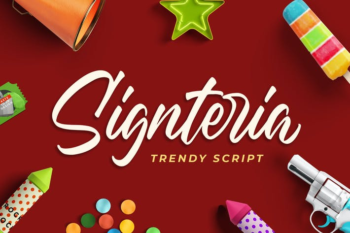 Thumbnail for Signteria - Police de script tendance