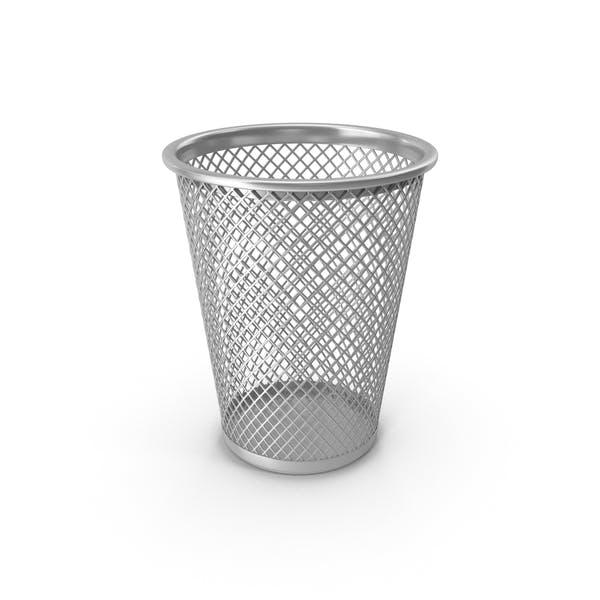 Серебряная корзина для отходов