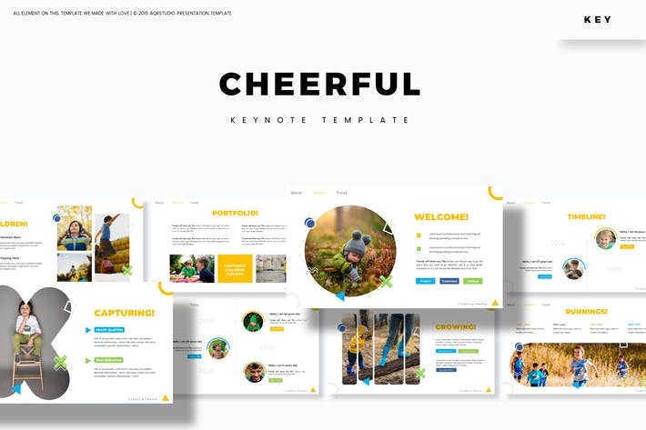 Thumbnail for Cheerful - Keynote Template