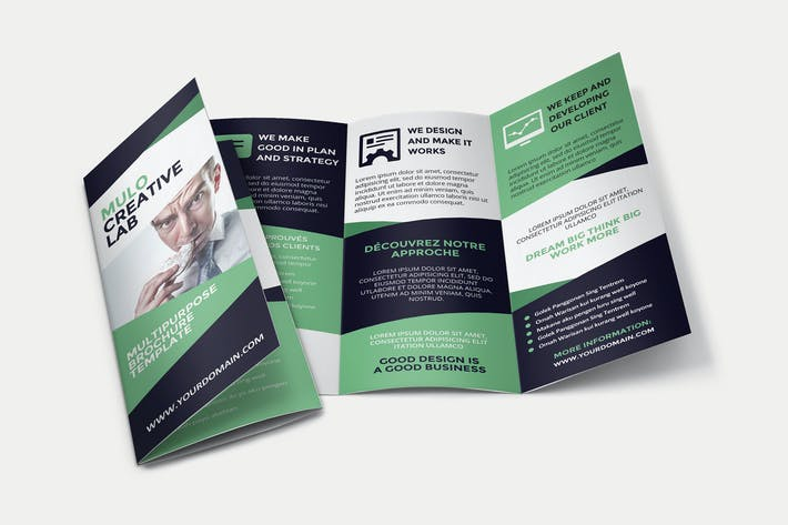 Thumbnail for Mulo Business Trifold Brochure Template