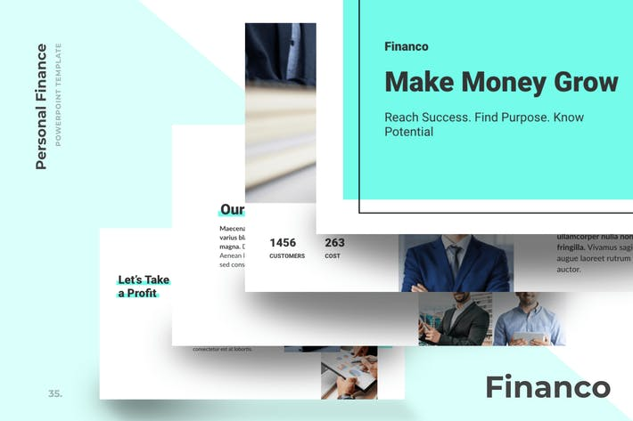 Thumbnail for Financo - Financial Advisor PowerPoint Templates