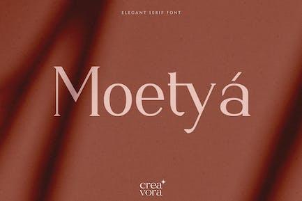 Moetya - Элегантный шрифт с засечками