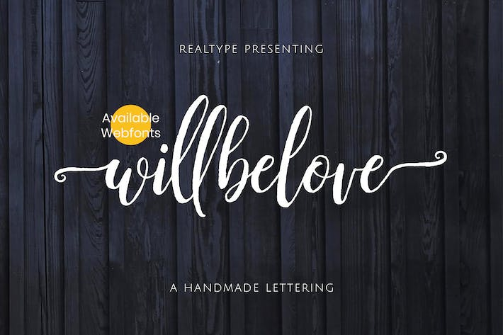 Thumbnail for Willbelove Brush Script + Webfonts