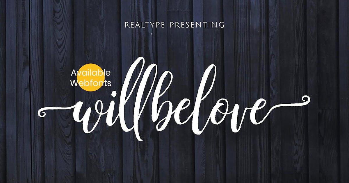Download Willbelove Brush Script + Webfonts by Siwox