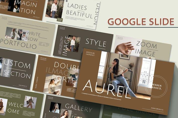 Thumbnail for AUREL - Мода Google Слайд Шаблон