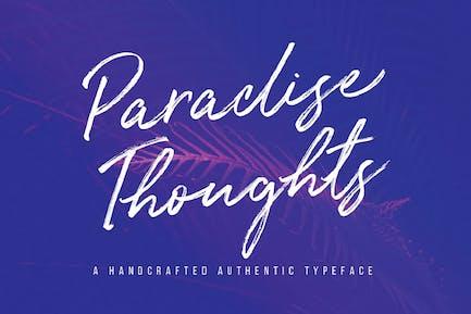 Paradise Thoughts Tipo de letra