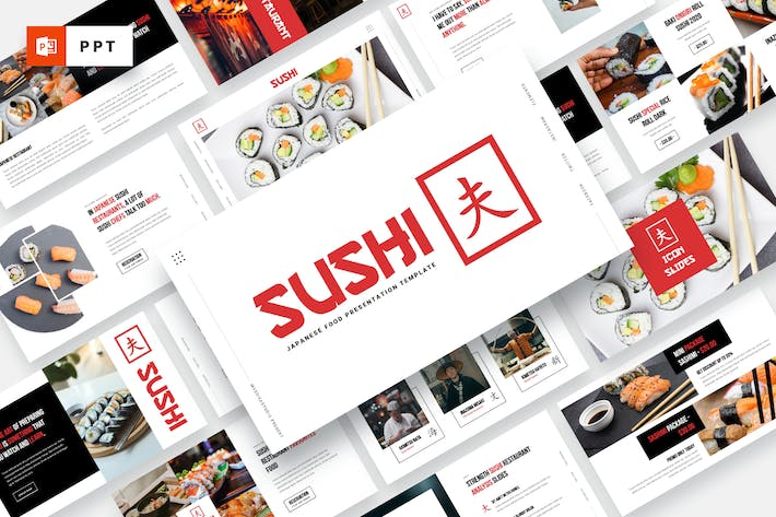 Thumbnail for SUSHI - Japanese Food Powerpoint Template