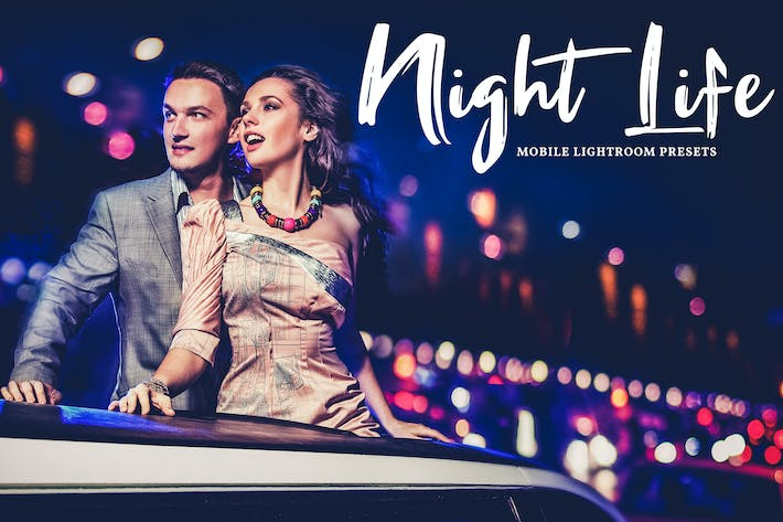 Thumbnail for Night Life Mobile & Desktop Lightroom Presets
