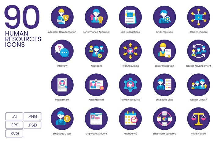 90 Human Resources Icons
